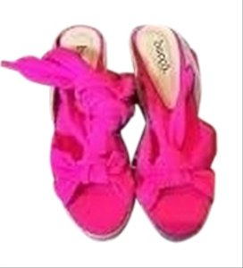 Bucco Espadrilles Pink Wedges