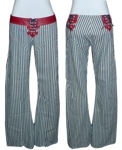 Electric Barbarella Flare Pants Blue Stripe