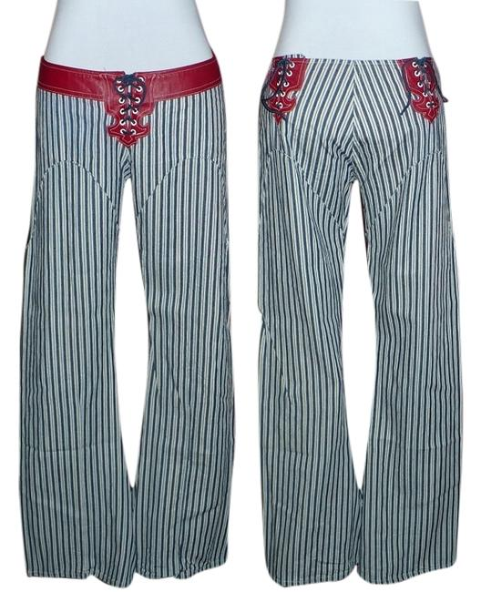 Other Electric Barbarella Flare Pants Blue Stripe