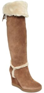 Guess Shanay Wedge Boots with Faux Fur Boots
