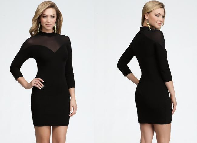 bebe Lbd Mesh Cocktail Night Out Dress