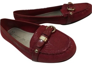 Anne Klein red Flats
