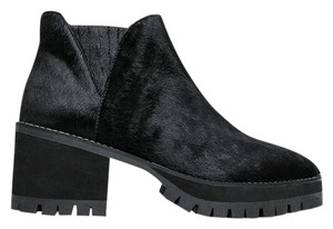YRU Calf Hair Platform Black Boots