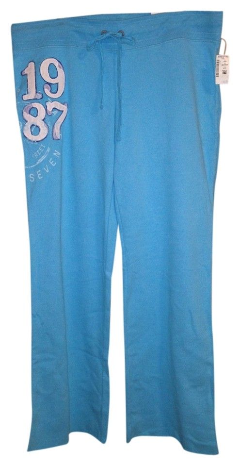 36d12010acb36 Aéropostale Aero 1987 Flare Sweat Loungewear Lounge Activewear Casual  Athletic Pants Teal ...