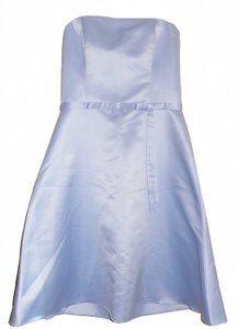 Jessica McClintock Blue Strapless Satin / Bridesmaid Dress