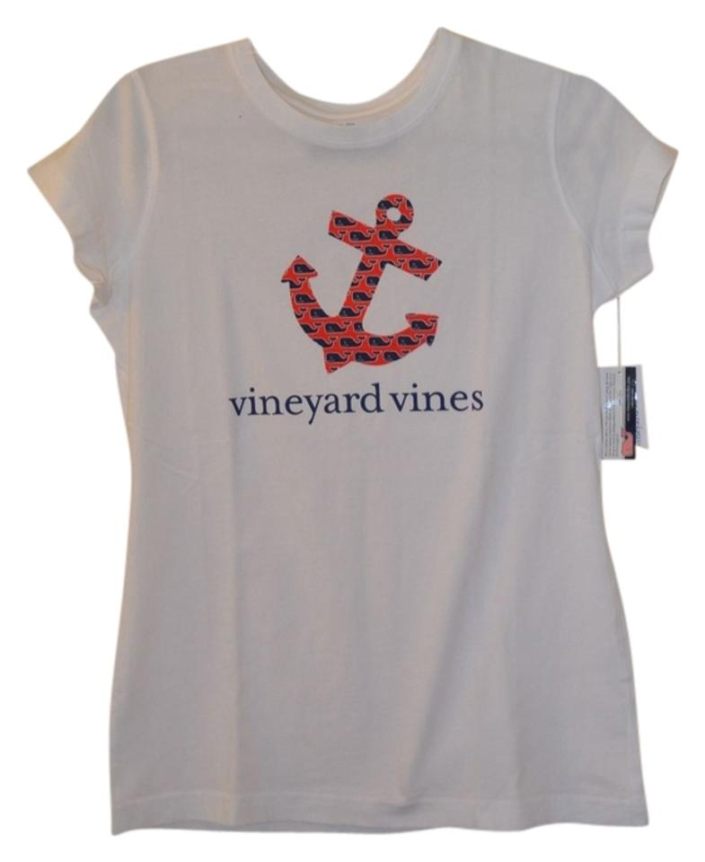 4cd6053c8 Vineyard Vines Anchor Nautical Size Large Preppy T Shirt White Image 0 ...