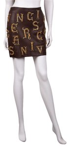 Versace Mini Skirt Brown