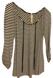 Bailey 44 Fall Longsleeve Cotton Striped Top Black & White