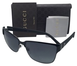 Gucci New GUCCI Sunglasses GG 4263/S LOWHD 60-14 Ruthenium & Black Frames w/ Grey Gradient Lenses