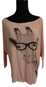 Windsor Giraffe Halfsleeve Top Pink, Black