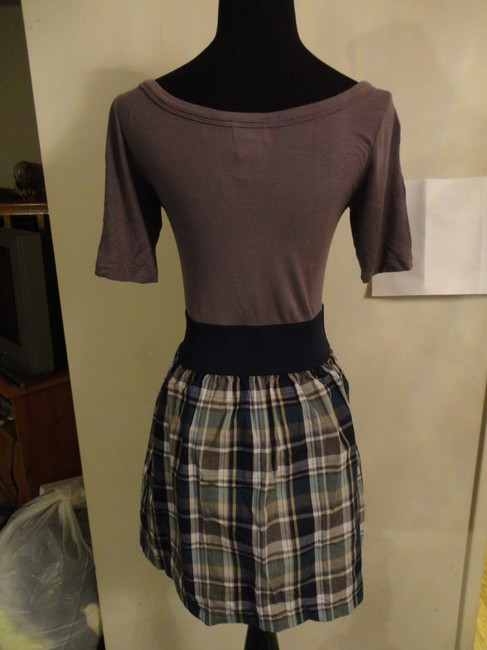Wet Seal short dress Greyish Purple, Plaid on Tradesy
