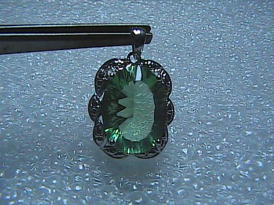 Unknown 9.0 cts Natural Green Flouride in 925 Sterling silver