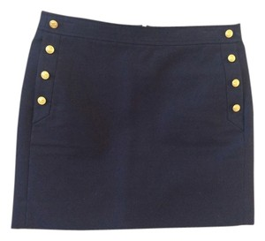J.Crew Mini Mini Nautical Stretch Mini Skirt Navy