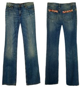 Roberto Cavalli Boot Cut Jeans-Distressed