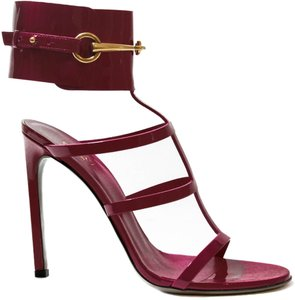fbd9deade Gucci 319588 Patent Leather Ankle-strap High Heel 319588 Patent Leather  Ankle Strap Raspberry Candy