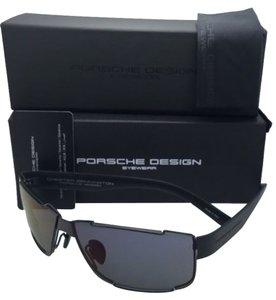 PORSCHE DESIGN New PORSCHE DESIGN Titanium Sunglasses P'8509 E Black Frame w/ Grey+Purple Mirror