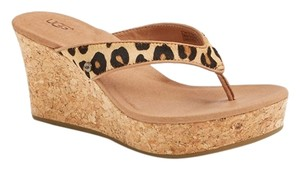 UGG Australia Women Sandal Womens Wedge Chestnut Leopard Wedges
