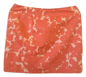 J.Crew Island Print Orange Summer Mini Skirt Tangerine