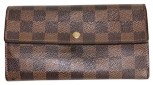 Louis Vuitton Authentic Louis Vuitton Damier Ebene Women's Wallet