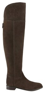 Tory Burch Knee Over The Knee Suede Brown Boots