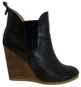 Coach Bootie Wedge Leather Black Boots