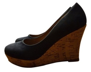 & Other Stories navy blue Wedges