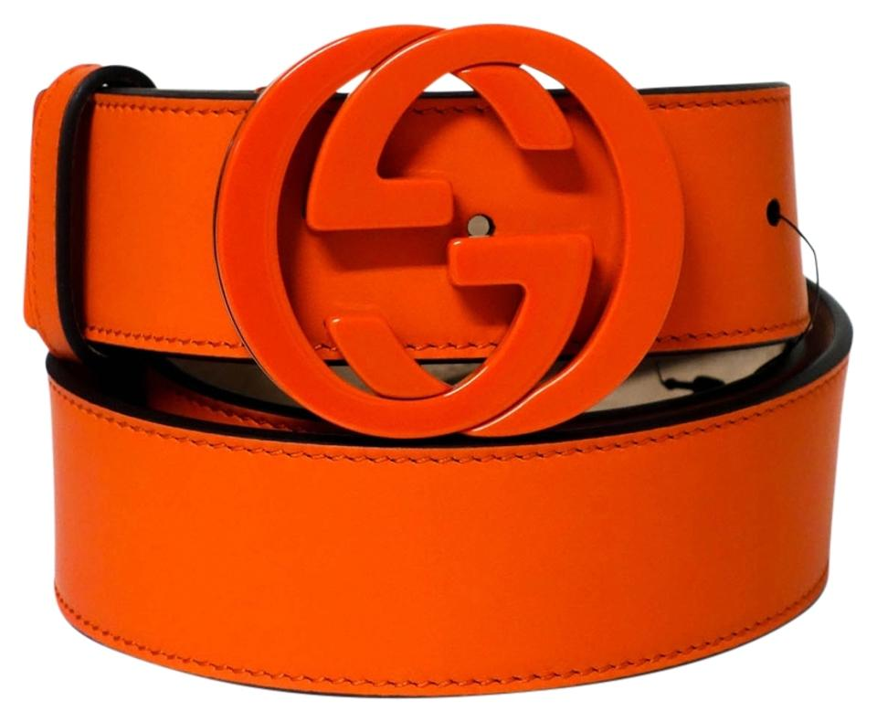 d6bedb64cb5 Gucci GUCCI 223891 Orange Belt with Interlocking G Buckle 105 - 42 Image 0  ...