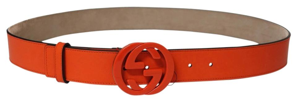 7baae73257b Gucci GUCCI 223891 Orange Belt with Interlocking G Buckle 105 - 42 Image 3.  1234
