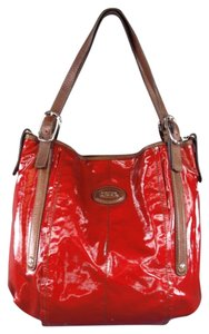 Tod's Coated Canvas Shiny Glossy Shoulder Bag