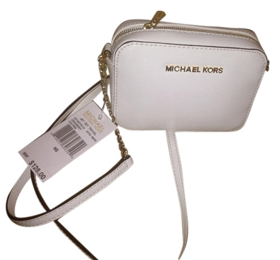 Michael Kors Cute Mk Gold New Patent Leather Clean Cross Body Bag
