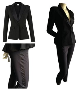 Altuzarra Altuzarra M/6 Black Tuxedo Suit Jacket M Pants 6 Women's Pant Suit