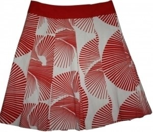 Diane von Furstenberg Skirt red and white