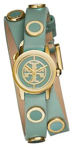 Tory Burch TRB4014 Tory Burch Reva Mini Women's Double Wrap Logo Studded Watch