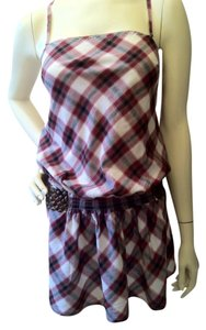 Guess short dress Black, White and Red/burgundy on Tradesy