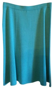 St. John Knit Blue Suit Skirt Antigua