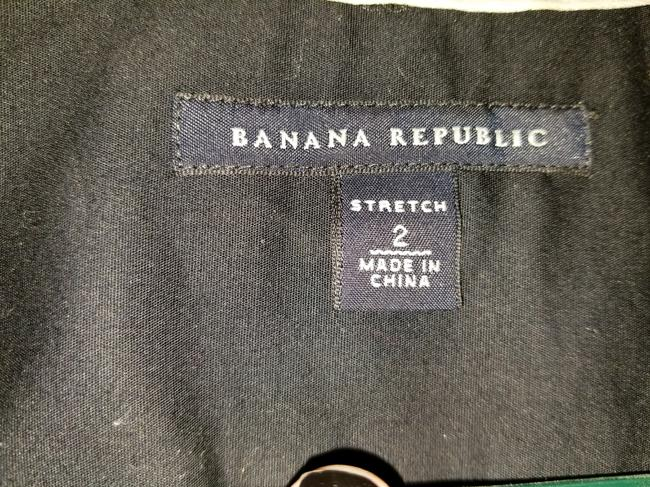 Banana Republic Open Collar Fitted In French Cuffs See Photos Button Down Shirt Black