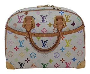 Louis Vuitton Momogram Satchel in White Multicolor