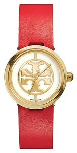 Tory Burch TORY BURCH TRB4005 Women's Watch Reva Red Leather/Gold-Tone