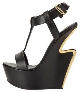 Giuseppe Zanotti Brand New In Box BLACK Wedges