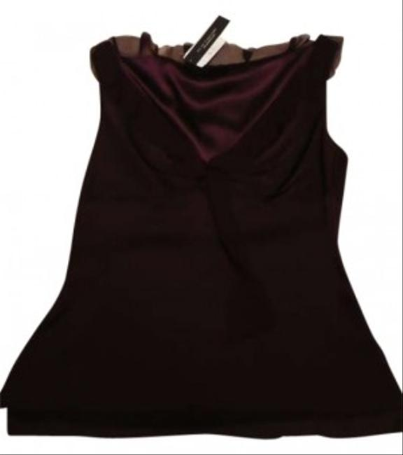 Elie Tahari Top Burgundy