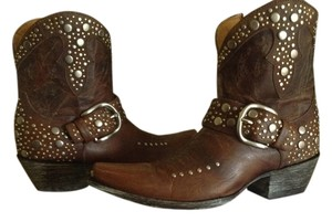 Old Gringo Studded Leather Brown Boots
