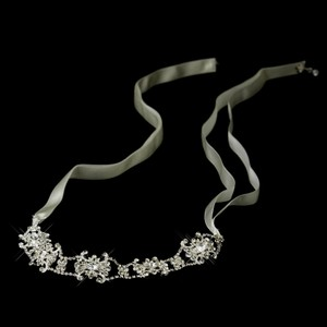 Elegance By Carbonneau Ribbon Crystal Headband Bridal Headpiece 15760