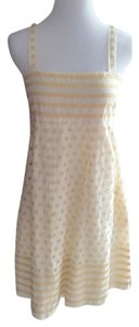 Diane von Furstenberg short dress Cream with hold thread on Tradesy