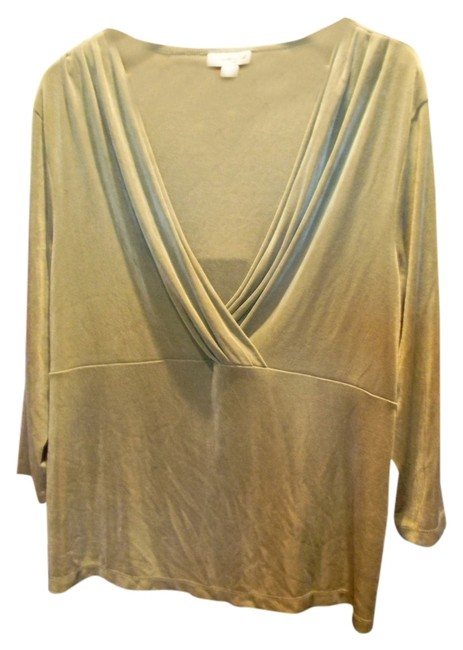 Preload https://item3.tradesy.com/images/coldwater-creek-green-blouse-size-14-l-1237312-0-0.jpg?width=400&height=650