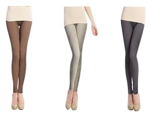 Nikibiki Snakeskin 3 Pack Taupe Gray Multi Leggings