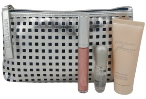 Estée Lauder Ester Lauder Cosmetic Bag + Fragrance Gift Sets (Silver - Pleasures)