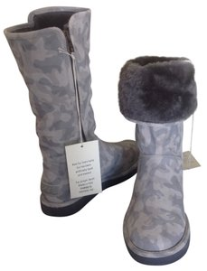 UGG Australia Abree Shearling Tall Gray Boots