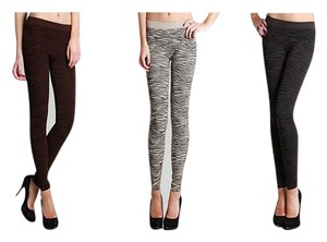 Nikibiki Zebra Collection 3 Pack Taupe Leggings