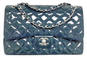 9229420411908a Chanel Shoulder Bag. Chanel 2.55 Reissue Double Flap Messenger #5016  Midnight Blue Classic Jumbo Quilted Patent Leather Cross Body Black ...