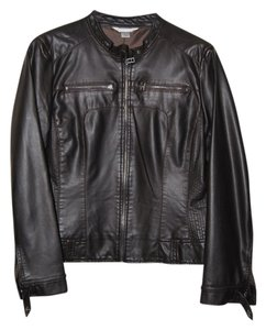 Christopher & Banks Faux Leather Brown Jacket
